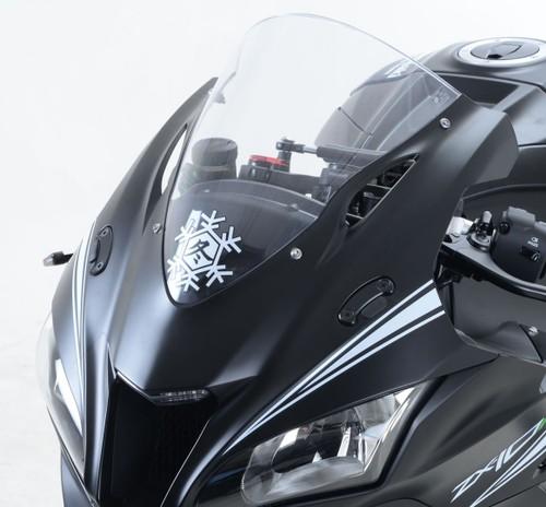 R/&G RACING MIRROR BLANKING PLATES FITS APRILIA RS4 125 2011-2012