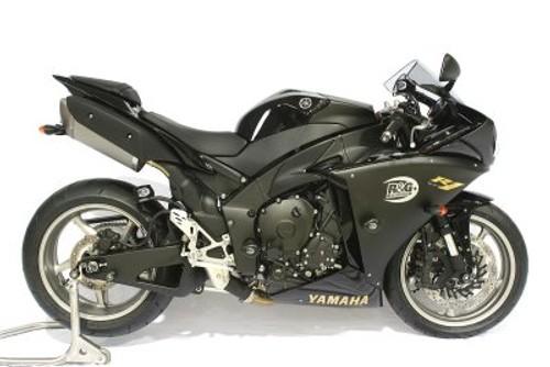 R /& G RACING CRASH PROTECTORS YAMAHA YZF R1 /'07-08  UPPER FRONT BLACK CP0197BL